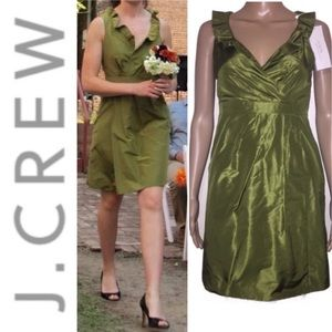 "$250 J. Crew Metallic ""Blakely"" Dress Silk Taffeta"